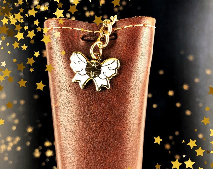 """Snitch Bow Charm - Gold Metal 3/4"""""""