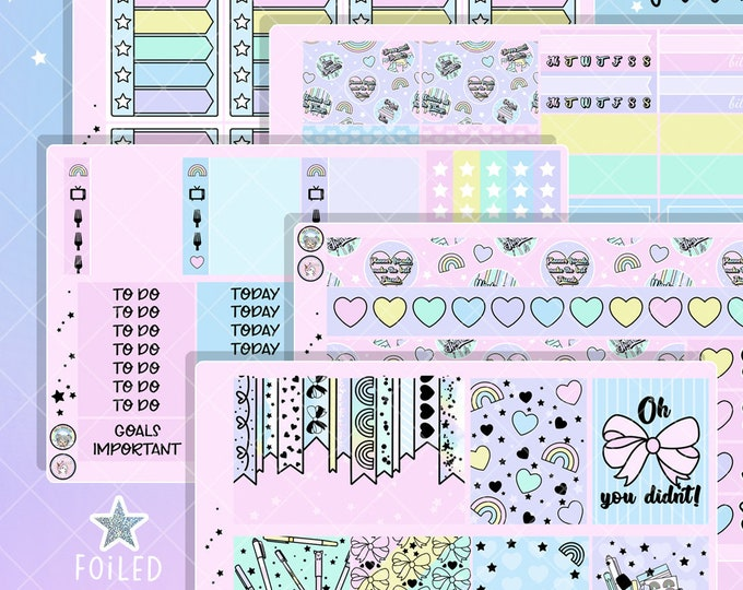 Planner Gal Foiled Sticker Kit - For EC Vertical, HP Classic, or PP Weeks/B6