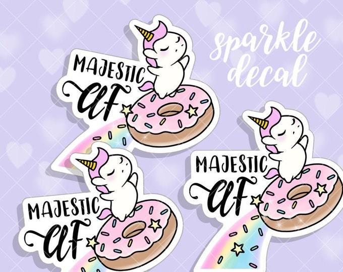 Majestic AF - Sparkle Overlay Decal - Not Waterproof!