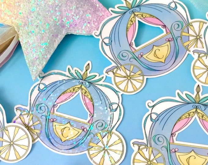 Sparkle Overlay Decal - Mini Carriage - Not Waterproof!