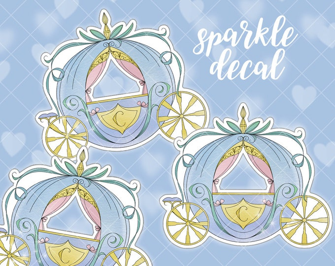 Mini Carriage Sparkle Overlay Decal