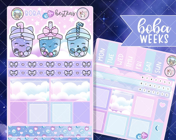 Constellation Boba - Hobo Weeks Sticker Kit