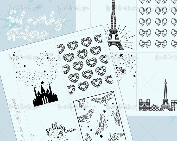 Foil Overlay Sticker Sheets - Add On Mini Sheet - Sold Per Sheet