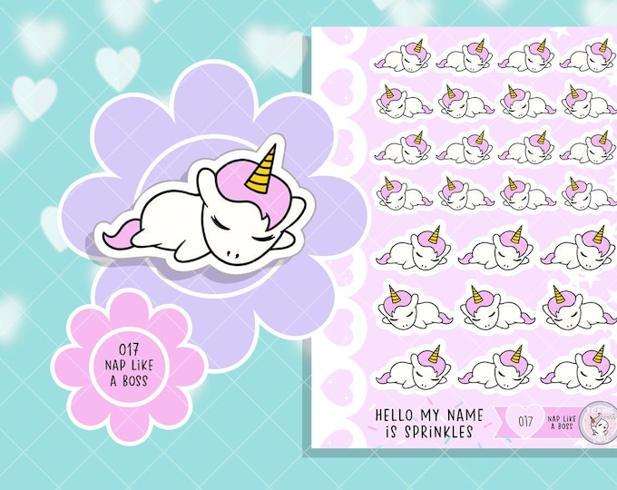 NEW Size - Nap Like A Boss - Sprinkles Sleeping/Nap Planner Stickers - 017