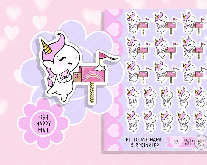 NEW Size - Happy Mail - Sprinkles Mail/Letter Planner Stickers - 034