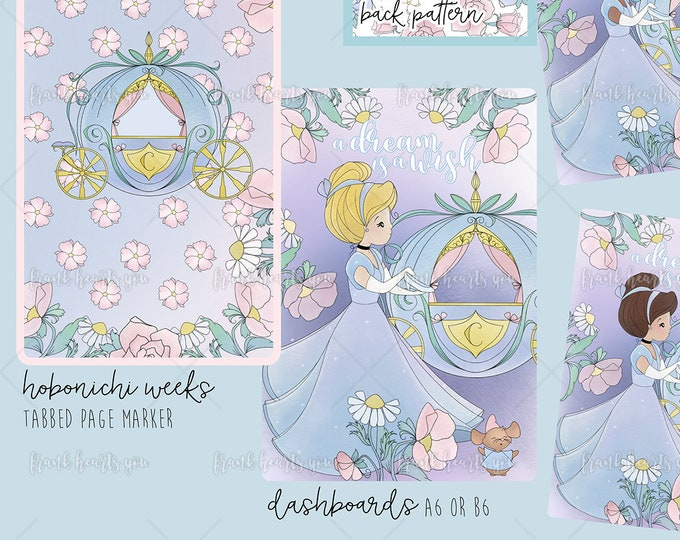 Cardstock Cinderella Dashboards - Pick Your Size!
