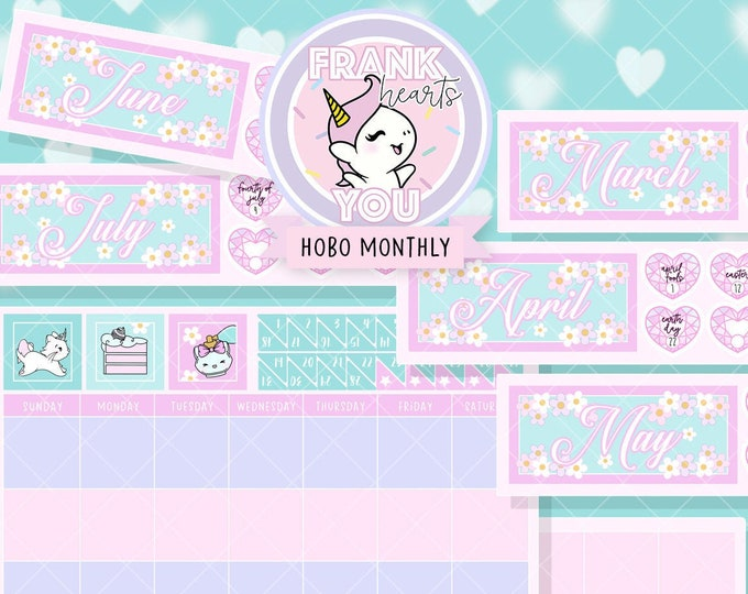 Hobo/PP Weeks Monthly Overview Sticker Set - Pick Your Month!