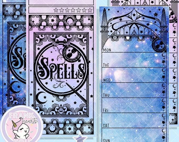 Full Cover Just Magic Mirror Hobo/PP Weeks Planner Sticker Kit - FOILED