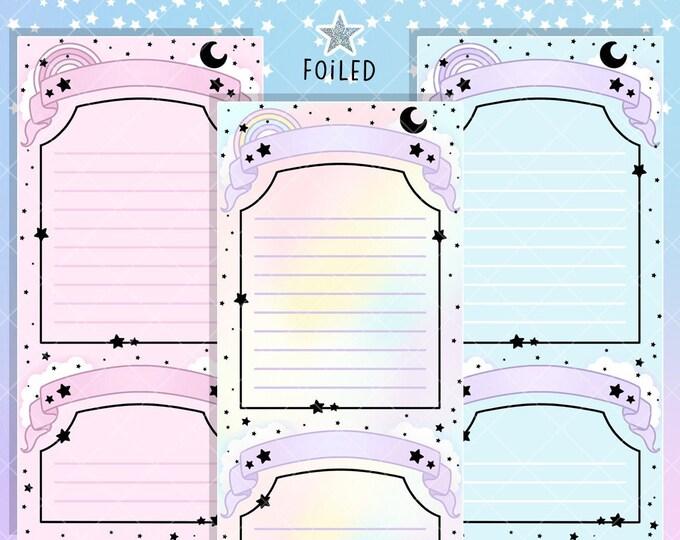 Foiled Moon & Star List Stickers - Hobo/PP Weeks Bundle