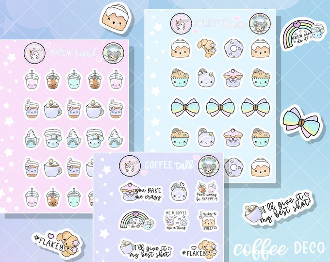 Coffee Deco - Micro Sticker Sheets