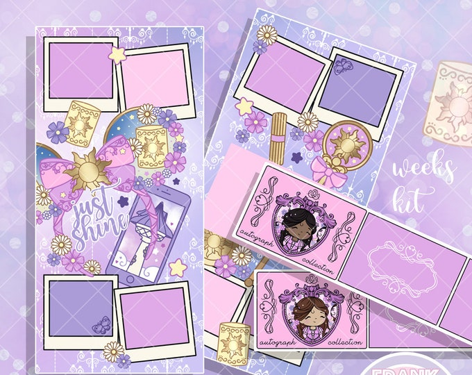 WEEKS FORMAT - Rapunzel's Autograph Book Purse Kit - Hobo/PP Weeks Full Cover Kit