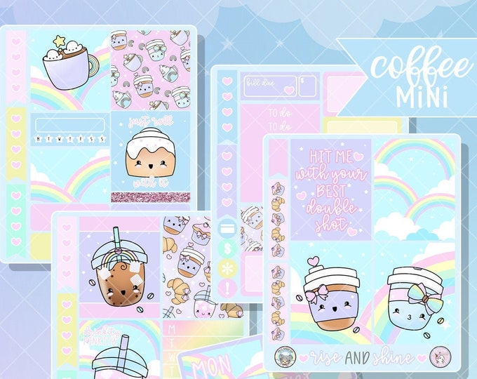 Rainbow Coffee - Mini Sticker Kit