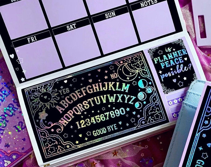 Purple Hobo/PP Weeks Planner Sticker Kit - Spirt Board - FOILED
