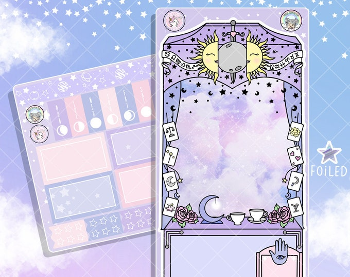 New Color! - Future Plans Tarot Card Cart - Hobo Weeks Sticker Kit - Collab FOIL