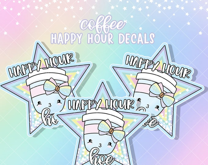 Warning *Adult* Content - Happy Hour - Sticker Decal - Sold Per Decal - Not Waterproof!
