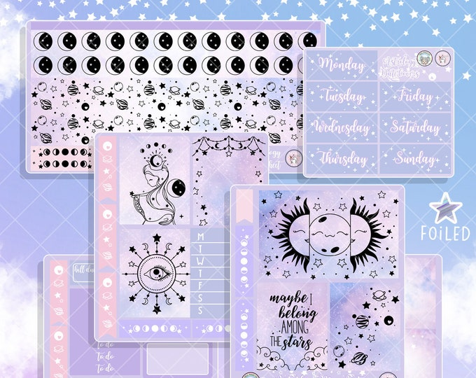 Astrology Mini Sticker Planner BUNDLE - Collab Foil