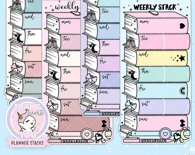 HOBO/PP WEEKS - Planner Stack Foiled Sticker