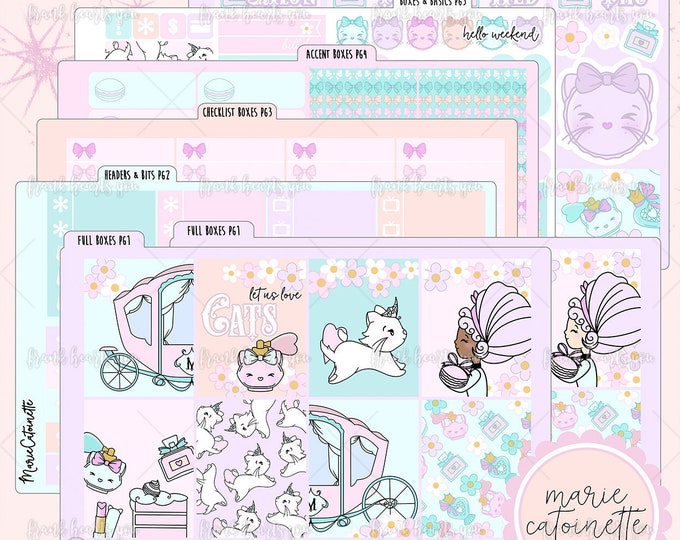 Marie Catoinette 6-SHEET Format - Planner Sticker Set