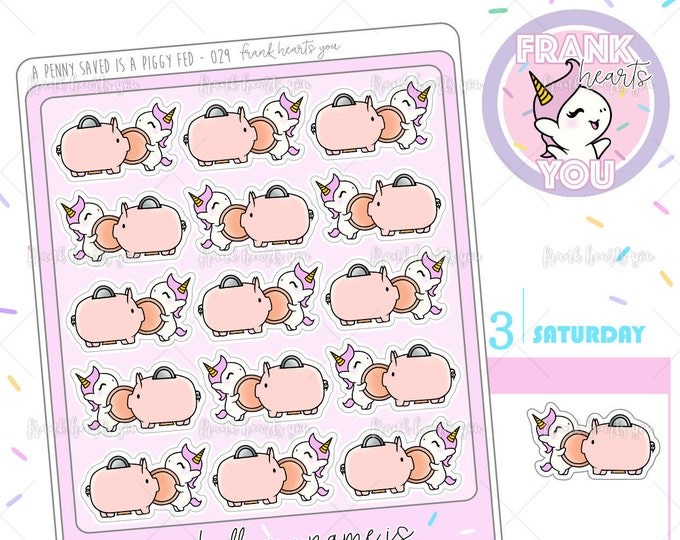 A Penny Saved is a Piggy Fed - Sprinkles Budgeting/Saving Planner Stickers - 029