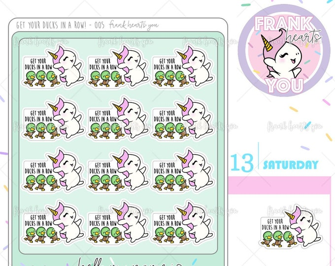 Ducks in a Row! - Sprinkles Organization Time Planner Stickers - 005