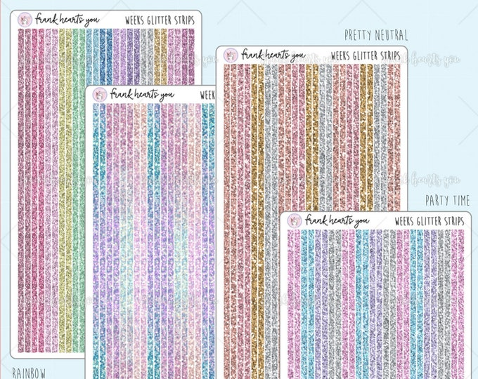 Hobo Weeks - Glitter Page Dividers - SOLD PER SHEET