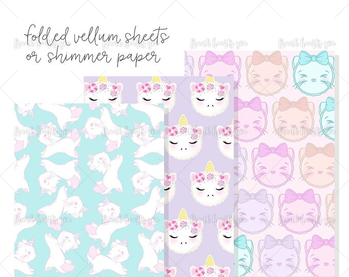 LAST STOCK! - Spring Designs - Folded Vellum OR Not-Folded Shimmer Paper - Select Your Sheets!