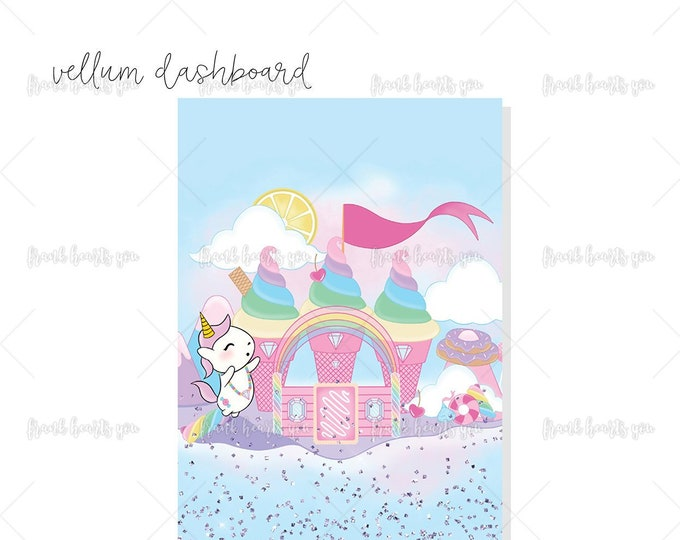 Single-Sided Vellum Dashboard - Sugar Rush Castle
