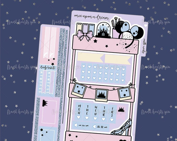 Once Upon a Dream - Castle Hobo Weeks - Planner Cart Foiled Planner Sticker Kit