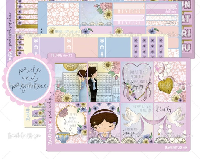Pride and Prejudice 5 SHEETS - Planner Sticker Set