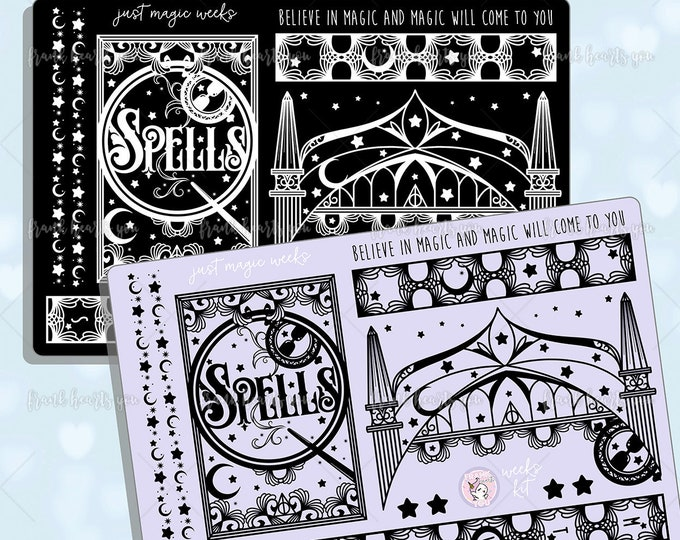 Just Magic Mirror Hobo Weeks - Foiled Planner Sticker Kit