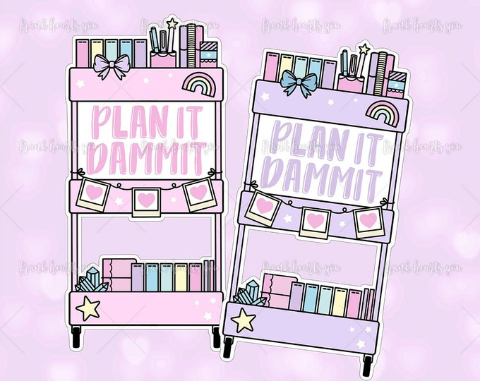 Plan It D*****! Planner Cart - Sticker Decal