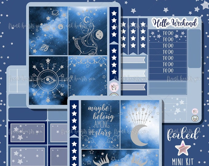 Astrology EC/Happy Planner Mini Sticker Kit - Collab FOIL