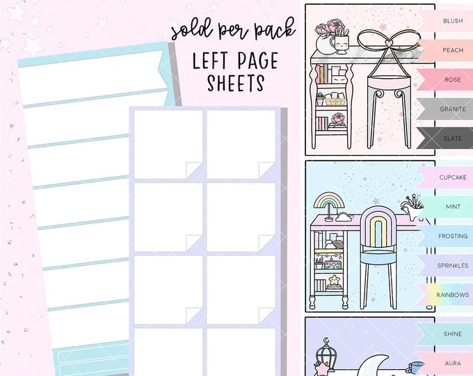 Left Page Layout Stickers - Hobo/PP Weeks - Sold Per Color Bundle