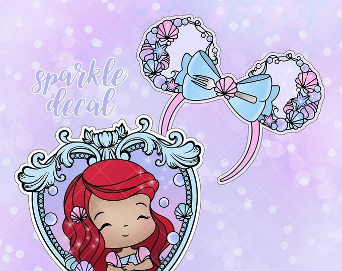 LAST STOCK! - Ariel - Sparkle Overlay Decal - Not Waterproof!
