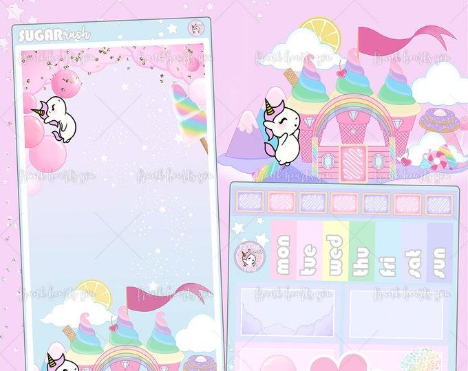 New Format! Sugar Rush Sprinkles the Unicorn - Hobo Weeks Kit