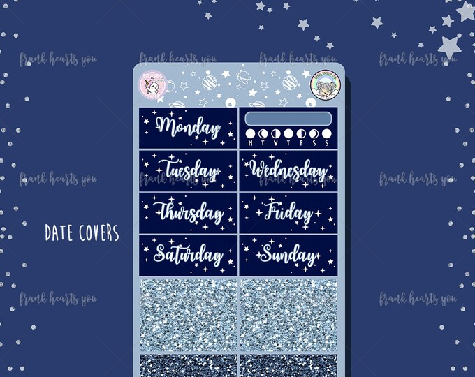 Astrology Date Covers and Faux Glitter Strips - Add On Sheet COLLAB