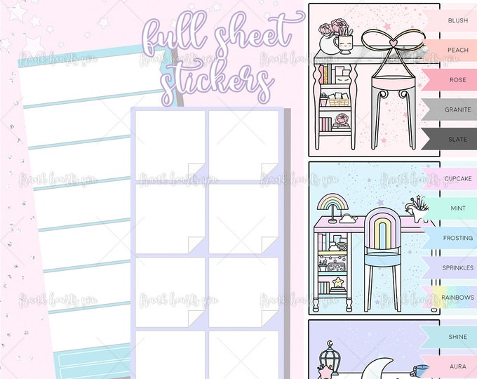 FULL SHEET Left Page Layout Stickers - Hobo/PP Weeks Bundle