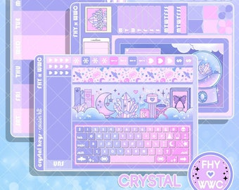 NEW! Crystal Keyboard - Hobonichi Cousin Full Cover Sticker Kit