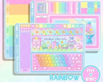 NEW! Rainbow Keyboard - Hobonichi Cousin Full Cover Sticker Kit