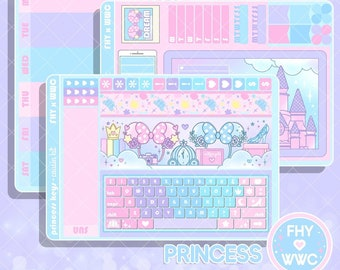 NEW! Princess Keyboard - Hobonichi Cousin Full Cover Sticker Kit