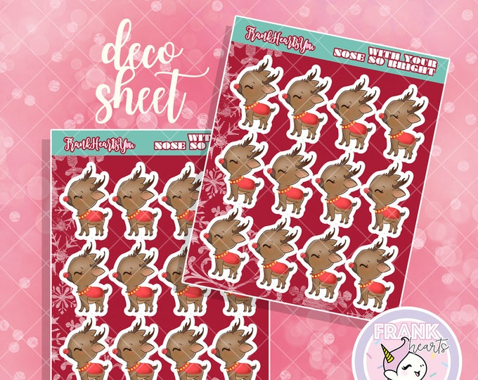 With Your Nose So Bright - Rudolph Planner Stickers