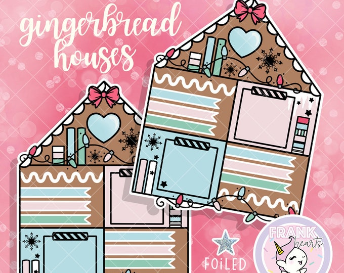 Gingerbread Craft House - Foiled Hobo Weeks Sticker