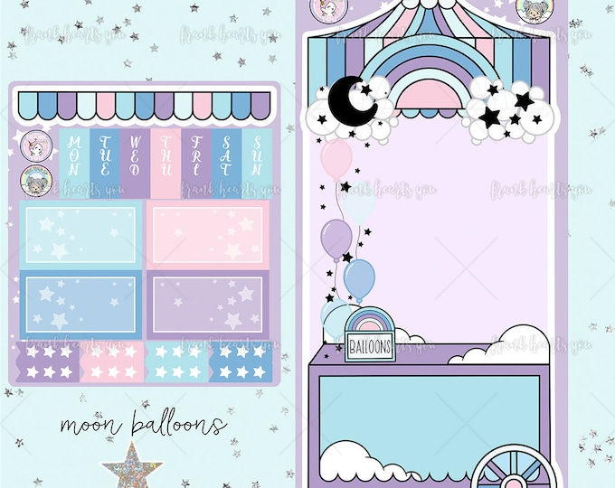 Collab FOIL - Moon Balloons Hobo Weeks Sticker Kit