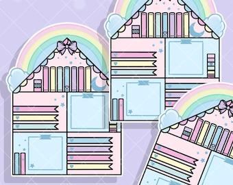 Rainbow Craft House Jumbo Sticker