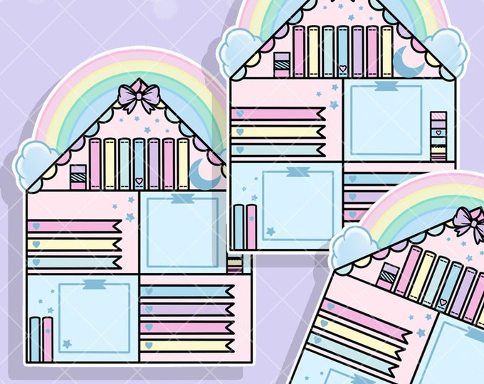 Rainbow Craft House Jumbo Sticker