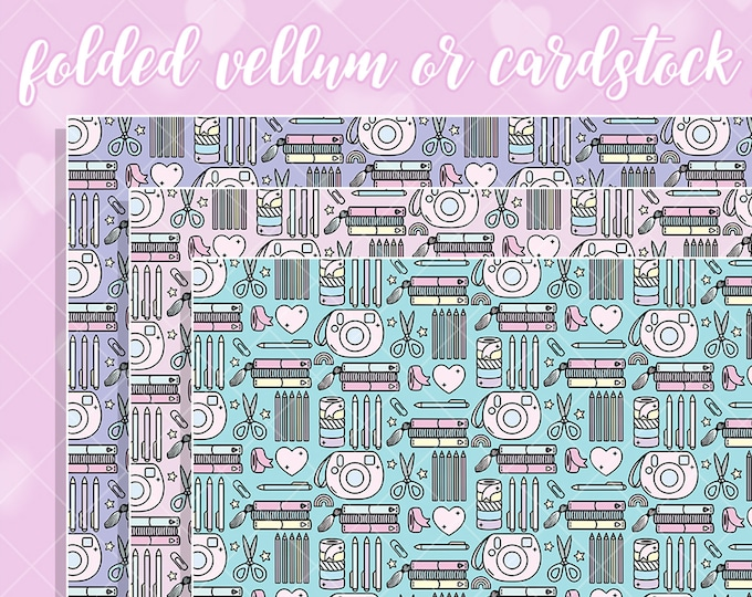 Crafty Gal Papers - Select Vellum or Cardstock