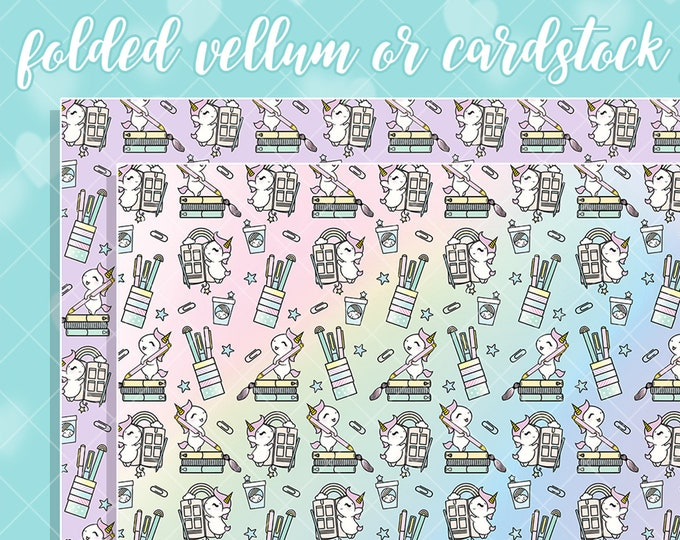 Sprinkles Plans Papers - Select Vellum or Cardstock