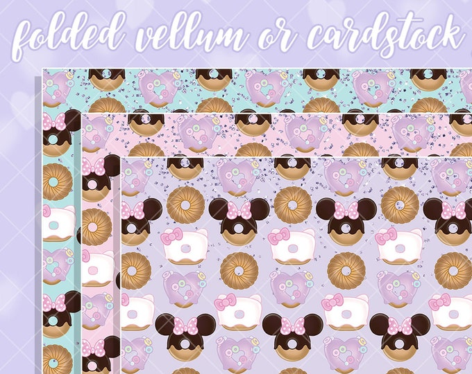Chubby Donut Papers - Select Vellum or Cardstock