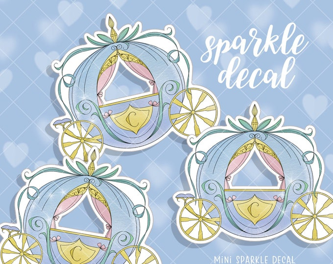 Mini Carriage - Sparkle Overlay Decal - Not Waterproof!