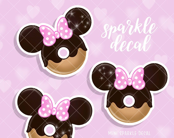 Mini Chubby Donut - Sparkle Overlay Decal - Not Waterproof!
